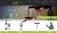 Crush Wine Bar Web design